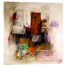 Acrylic print  Abstract painting on canvas - modern and contemporary - Michael artefacti