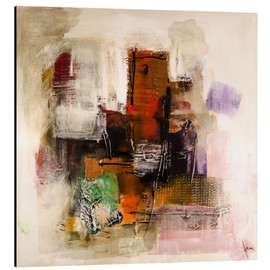 Aluminium print  Abstract painting on canvas - modern and contemporary - Michael artefacti