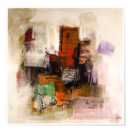 Premium poster Abstract painting on canvas - modern and contemporary