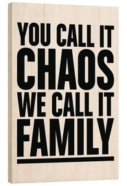Wood print  Family - dolceQ