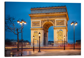 Aluminium print  Arc de Triomphe in Paris - Jan Christopher Becke