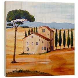 Wood print  Tuscany - Christine Huwer