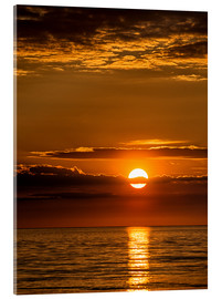 Acrylic print  Sunset on shore of the Baltic Sea - Rico Ködder