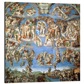 Aluminium print  The Last Judgement - Michelangelo