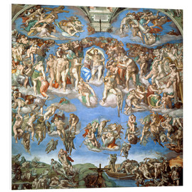 Foam board print  The Last Judgement - Michelangelo