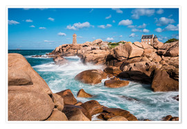Premium poster  Atlantic Ocean coast in the Brittany near Ploumanac'h (France) - Rico Ködder