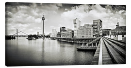 Canvas print  Typical Duesseldorf | 01 (b/w) - Frank Wächter