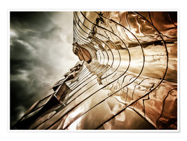 Premium poster Gehry Duesseldorf | 03 (landscape)