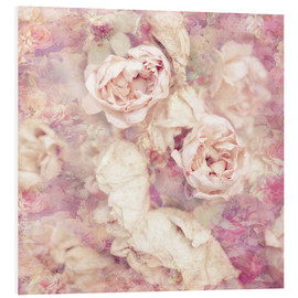 Foam board print  Faded roses - INA FineArt