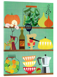 Acrylic print  Kitchen shelf 02 - Elisandra Sevenstar