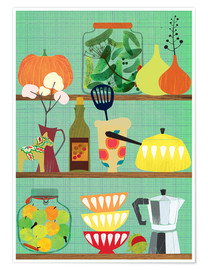 Premium poster Kitchen shelf 02
