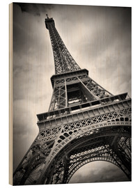 Wood print  Eiffel Tower, PARIS III - Melanie Viola