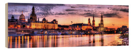 Wood print  Panorama of Dresden - Steffen Gierok