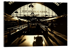Acrylic print  Railway Station in Cologne - Die Farbenflüsterin