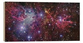 Wood print  Violett nebula in space - R Jay GaBany