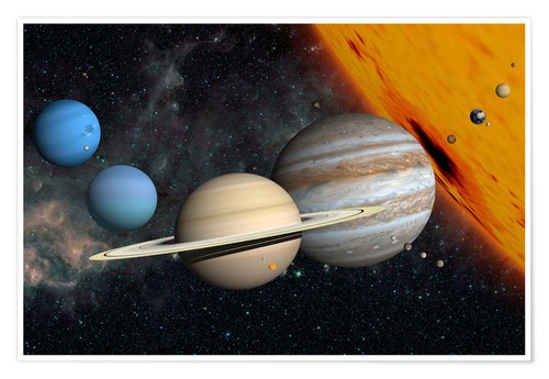 Premium poster Planets and moons