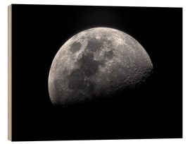 Wood print  Waxing gibbous moon - Roth Ritter