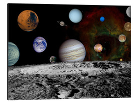 Aluminium print  Montage of the planets - Stocktrek Images