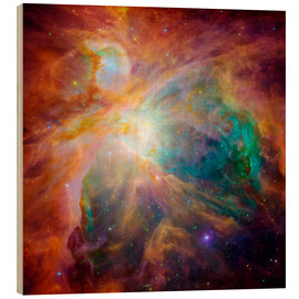 Wood print  The Orion Nebula