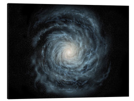 Aluminium print  face-on view of the Milky Way - Ron Miller