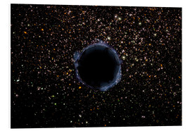 Foam board print  A Black Hole in a Globular Cluster - Stocktrek Images