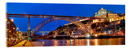 Acrylic glass  Porto Portugal, bridge Dom Luis - Fine Art Images