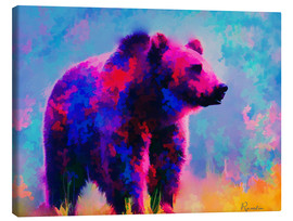 Canvas print  Grizzly Bear - Rosalina Nikolova