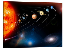 Canvas print  Our solar system - Stocktrek Images