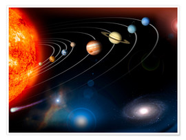 Premium poster  Our solar system - Stocktrek Images
