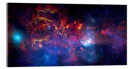 Acrylic print  central region of the Milky Way galaxy