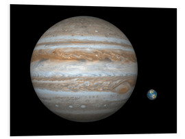 Foam board print  gas giant Jupiter and Earth - Walter Myers
