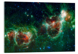 Acrylic print  Infrared mosaic of the Heart and Soul nebula - Stocktrek Images