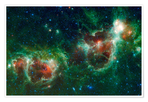 Premium poster Infrared mosaic of the Heart and Soul nebula
