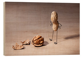 Wood print  Simple Things - Lost Brain - Nailia Schwarz