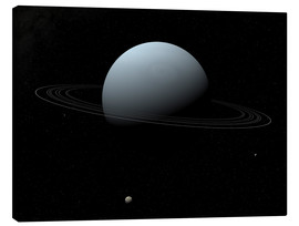 Canvas print  Uranus and its tiny moon Puck - Walter Myers