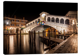 Canvas  VENICE Rialto Bridge I - Melanie Viola
