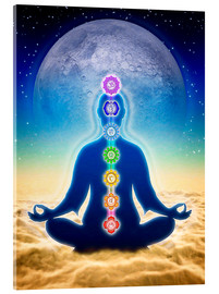 Acrylic print  In Meditation With Chakras - Blue Moon Edition - Dirk Czarnota