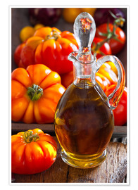 Premium poster Olive oil and tomatoes II