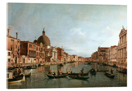 Acrylic print  Venice, The Grand Canal with Simeone Piccolo - Antonio Canaletto