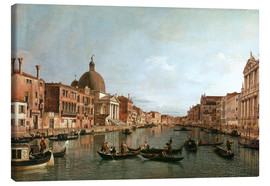Canvas print  Venice, The Grand Canal with Simeone Piccolo - Antonio Canaletto