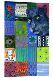 Acrylic print  Paradise Garden Panther - Eugen Stross