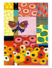 Premium poster Paradise Garden Butterfly