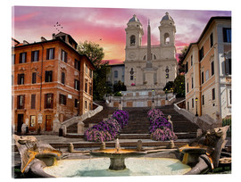 Acrylic print  Piazza Di Spagna with the Spanish Steps - Dominic Davison