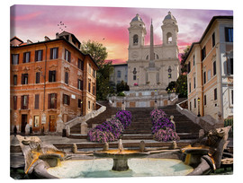 Canvas print  Piazza Di Spagna with the Spanish Steps - Dominic Davison