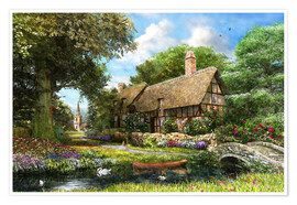 Premium poster Summer Country Cottage