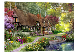 Acrylic print  Woodland walk cottage - Dominic Davison
