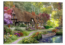 Aluminium print  Woodland walk cottage - Dominic Davison
