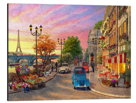 Aluminium print  Sunset on the Seine - Dominic Davison