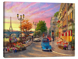 Canvas  Sunset on the Seine - Dominic Davison