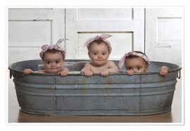 Premium poster  Cheeky Babies in the bath - Eva Freyss